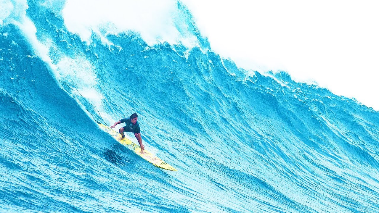 Follow Kai Lenny and co off the ledge at heaving Jaws in 60fps. | Session: Pe'ahi