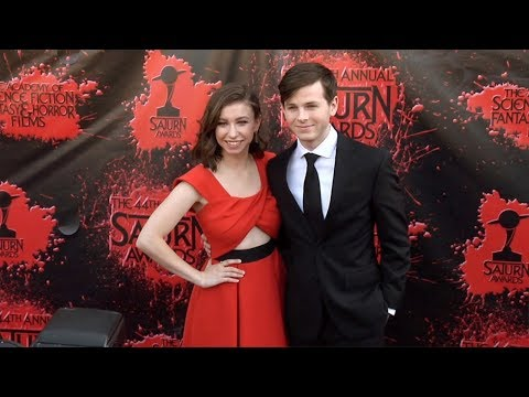 Katelyn Nacon and Chandler Riggs 2018 Saturn Awards Red Carpet