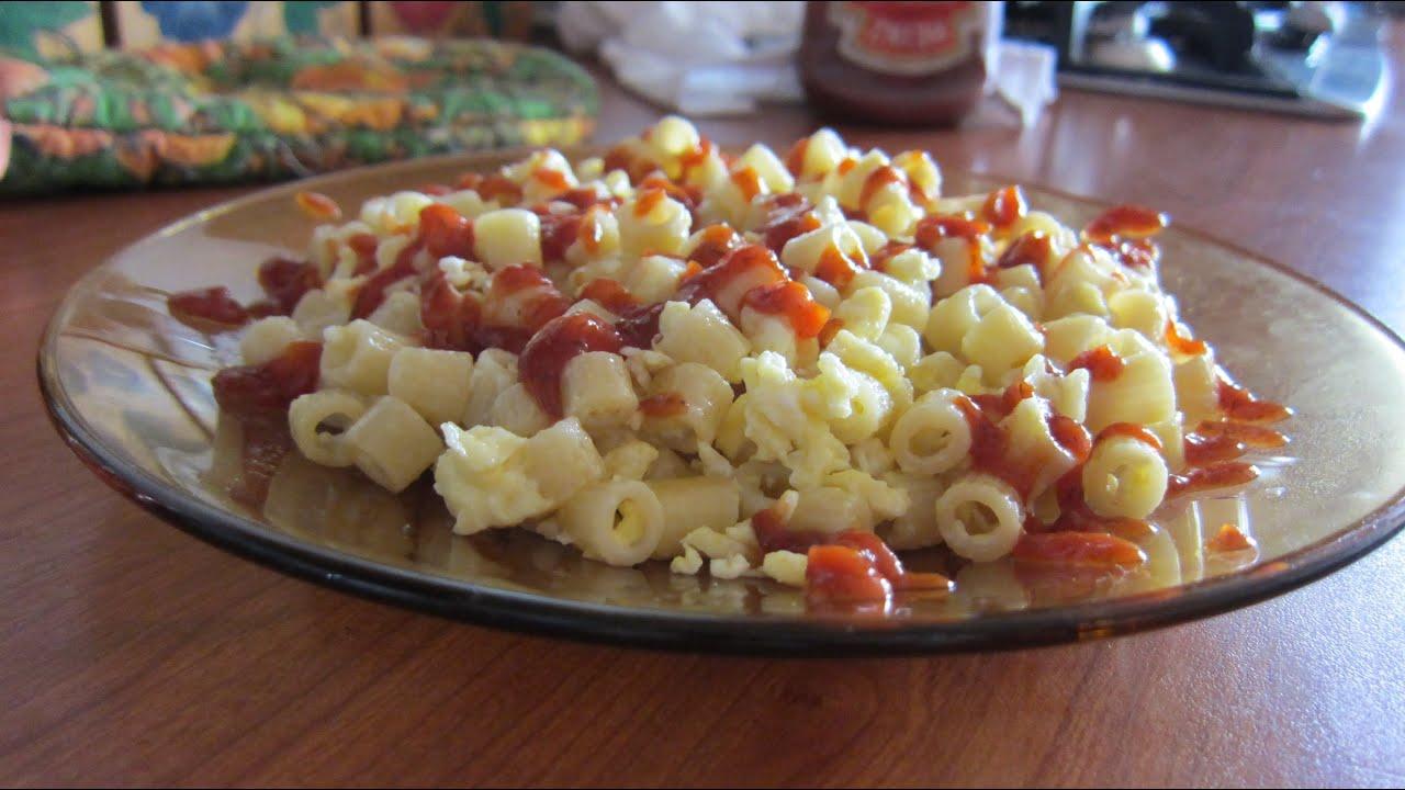 макароны с яйцом на сковороде макароны с яйцом рецепт на сковороде