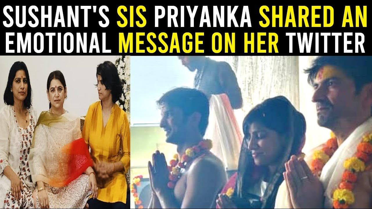 Emotional Message from Sushant's Sister Priyanka Singh