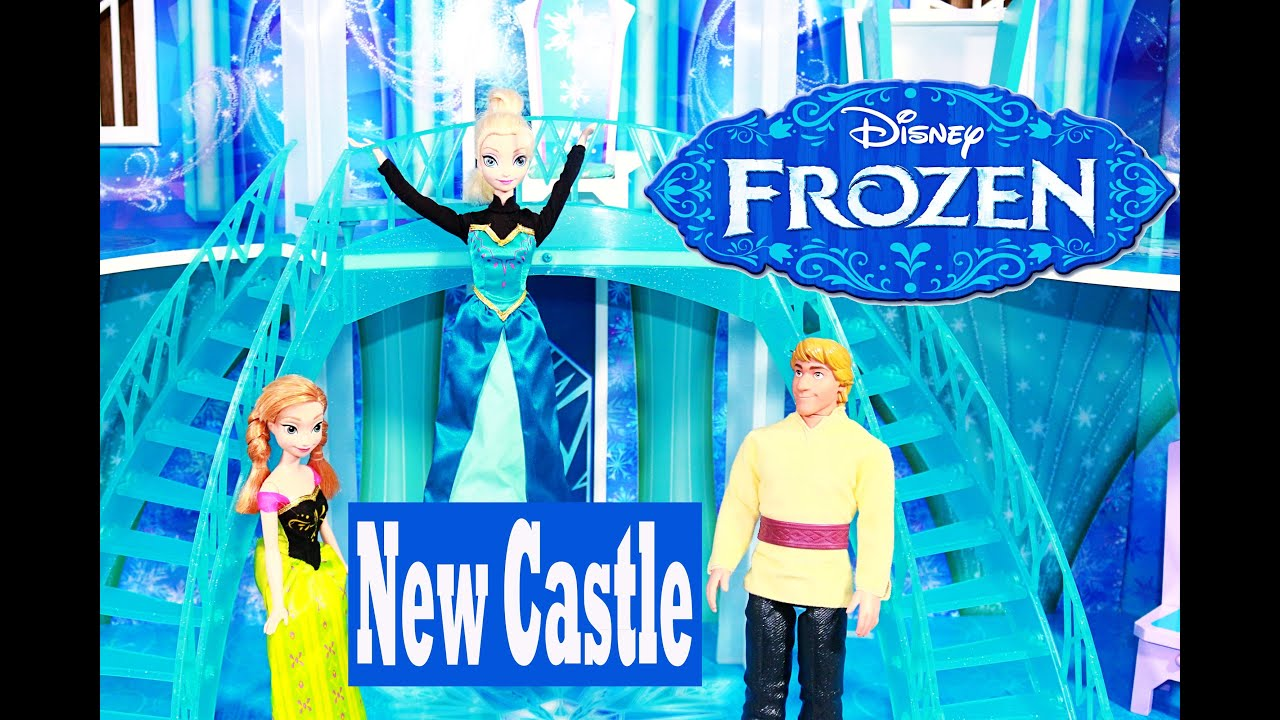 frozen kidkraft barbie dollhouse disney ice palace castle