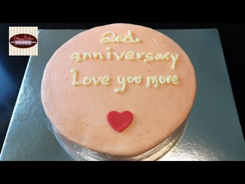 Minimalist Anniversary Cake Decorating A Cake Tutorial Youtube
