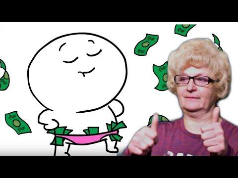 """Реакция мамы Кэт на анимацию Добряка """"Как я зарабатывал в детстве"""""""