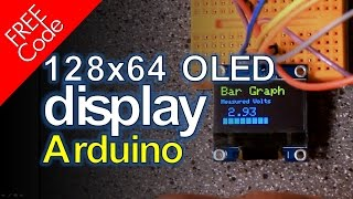 Arduino and 128x64 OLED Display FREE CODE!!!