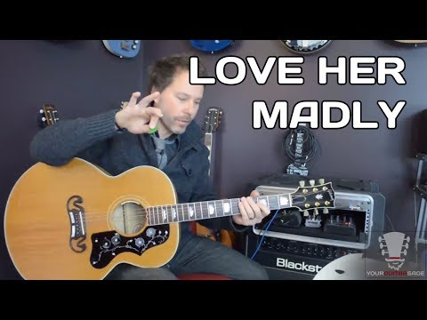 Love Her Madly by The Doors - How to Play Acoustic Guitar Lesson