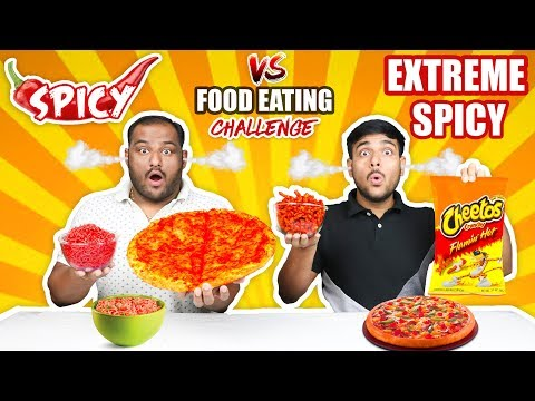 SPICY VS EXTREME SPICY FOOD EATING CHALLENGE | Spicy Pizza Eating Challenge | Noodles Challenge