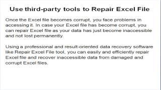 Excel File Recovery Tool to Repair Corrupt Excel File
