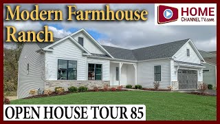 Open House Tour 85 - Modern Farmhouse Ranch Home - Narrated Tour with KLM Builders