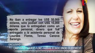 EXCLUSIVO: aspirante a colaborador señala que Odebrecht habría financiado campañas de Lourdes Flores