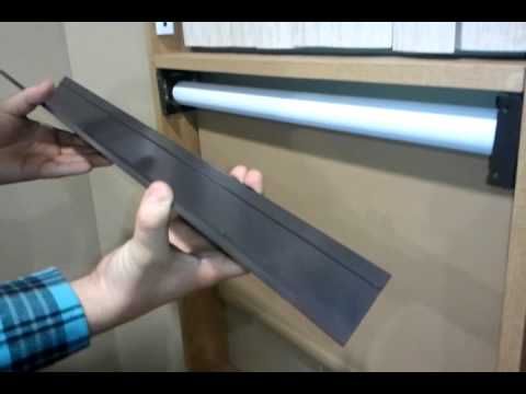 How To Install Fascia On A Spring Roller Shade Youtube