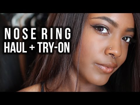 Affordable Nose Ring Collection Haul + Try-on