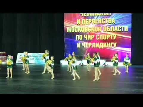 Выступление «Элмонт» на первенстве Московской области. Чир спорт