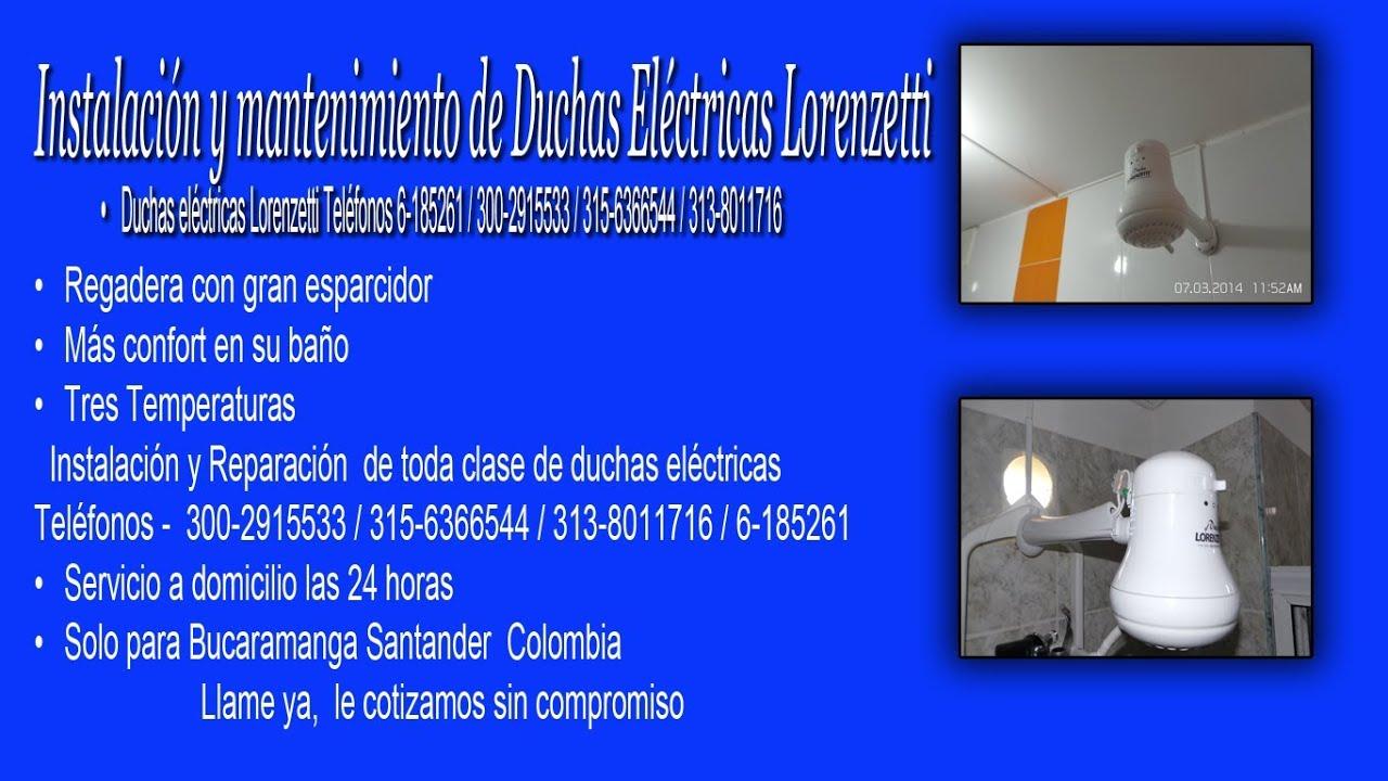 Duchas el ctricas lorenzetti tel fonos 6 185261 6 494389 for Partes de una ducha telefono