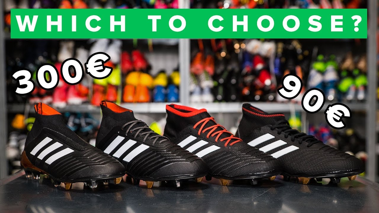 premium selection 03b71 51ef1 CHEAP vs EXPENSIVE adidas Predator 18+ football boots explained
