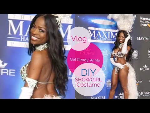 Get Ready With Me | Halloween Costume DIY| Maxim Party | Carnival DIY Costume