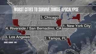 What cities will survive the zombie apocalypse?