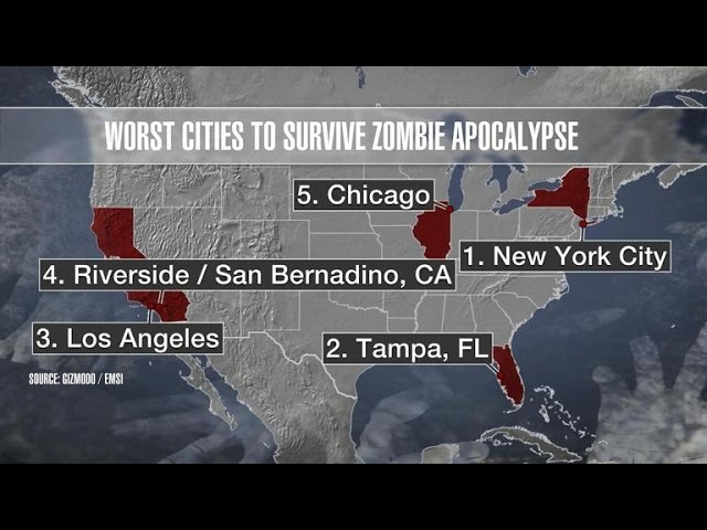 477. What cities will survive the zombie apocalypse?