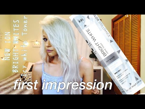 New ion bright whites creme toners first impression icy white also rh youtube