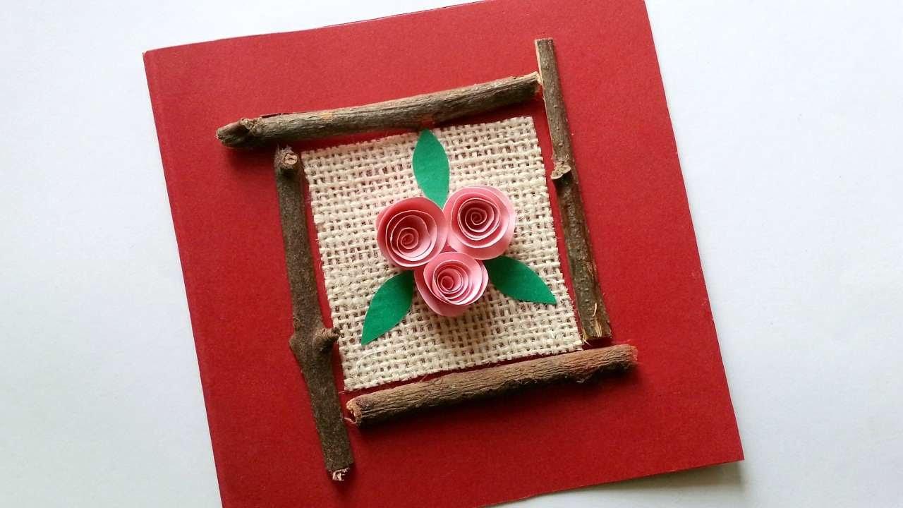 Haz una bonita tarjeta con palos y papel hazlo tu mismo - Hazlo tu mismo manualidades ...