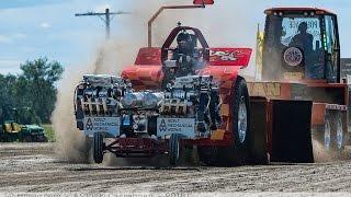 Super Modified Tractors pulling at Casselman Super Pull Ontario Canada 2016