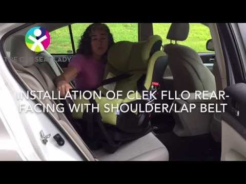 How To Install A Clek Fllo Rear Facing With Vehicle S Shoulder Lap Belt You