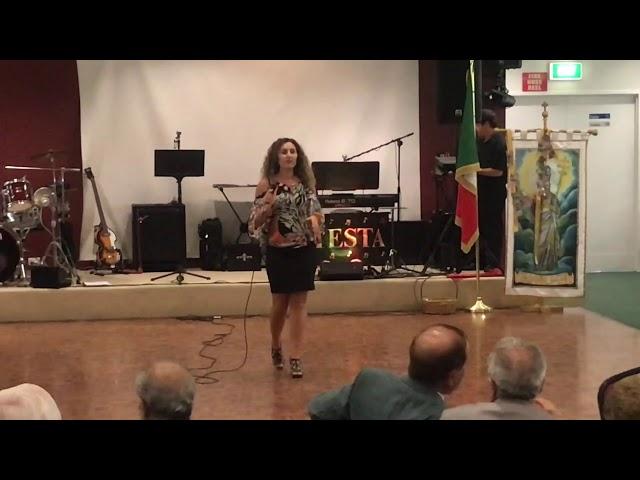 Maria Pellicano singing Chitarra Romana  in Italian