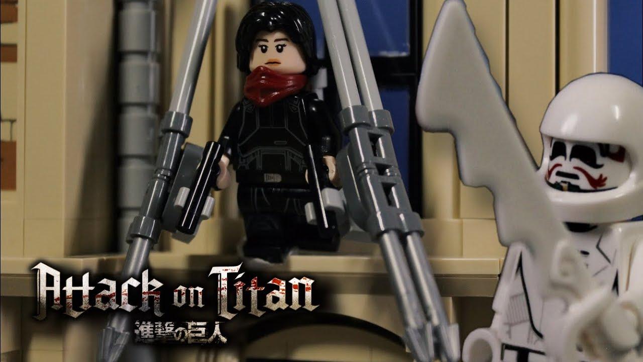 Lego Attack on Titan: Mikasa vs Warhammer ][ Лего Атака Титанов: Микаса против Молотоборца