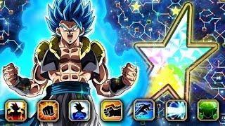 THE BEST TUR IN THE GAME! 100% RAINBOW STAR BLUE GOGETA SHOWCASE! (DBZ: Dokkan Battle)