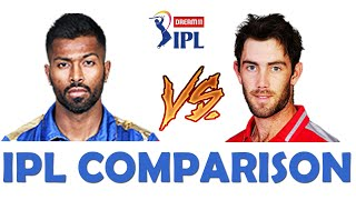 IPL Comparison 2020 :- Hardik Pandya Vs Glenn Maxwell #IPL2020#CricketComparison#IPLt20