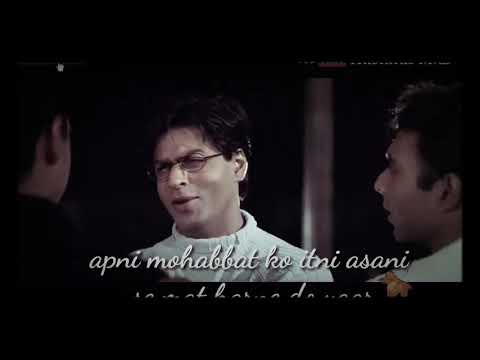 Download Best emotional dialogue of Mohabbatein movie By SRK  || whatsapp status video song #Sanam