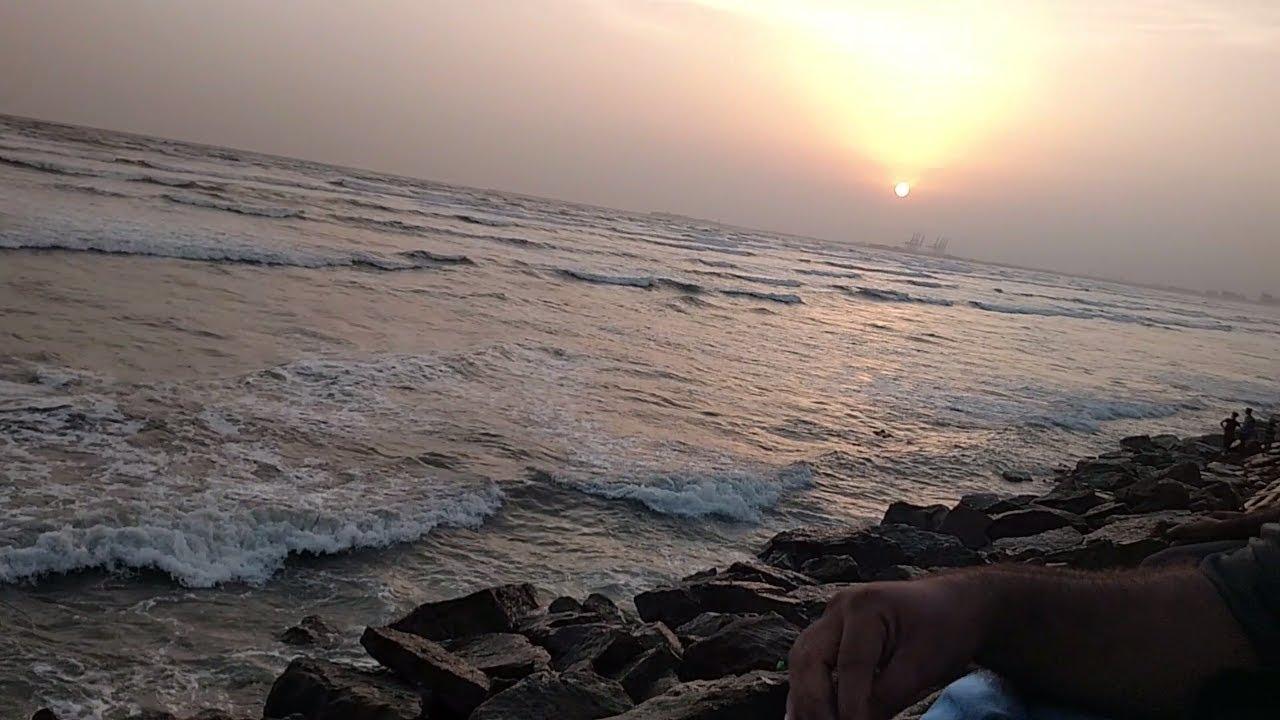 Karachi Sea View | Sunset at Beach Seaview Karachi Pakistan