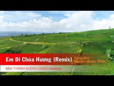 KARAOKE | Em Đi Chùa Hương - Trung Đức, Nguyễn Nhược Pháp | Beat Chuẩn