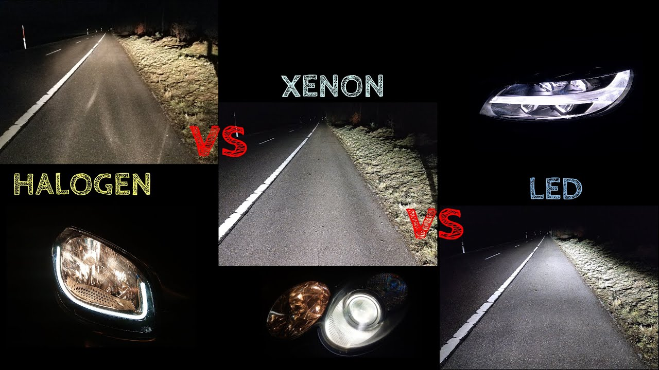 Vergleich Led Halogen Halogen Vs Xenon Vs Led - Youtube