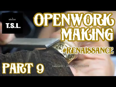 Jewelry Making openwork 18k gold ring 9 9 透かし18金リングを作る