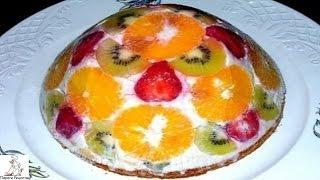 Легкий торт фото.Бисквитно фруктовый торт