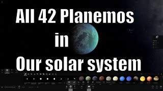All of the Planemos in Our Solar System - Universe Sandbox²