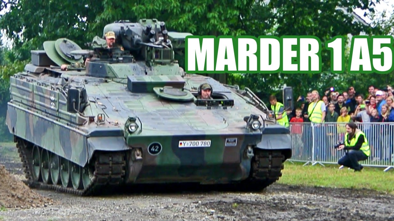 stahl auf der heide 2014 fahrt des marder 1 a5 panzermuseum munster youtube. Black Bedroom Furniture Sets. Home Design Ideas