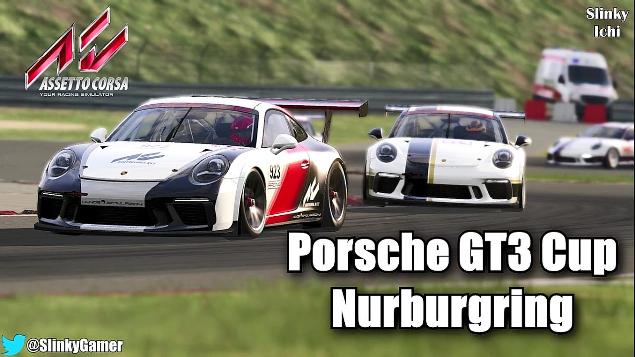 assetto corsa gameplay race porsche 911 gt3 cup nurburgring gp thurstma. Black Bedroom Furniture Sets. Home Design Ideas