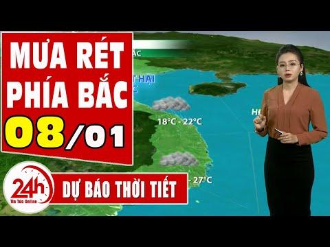 Dự báo thời tiết hôm nay mới nhất  08/01. Dự báo thời tiết 3 ngày tới  Bắc trung bộ rét đậm rét hại