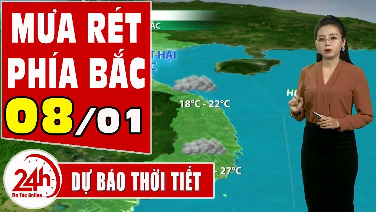 Dự báo thời tiết hôm nay mới nhất  08/01. Dự báo thời tiết 3 ngày tới  Bắc trung bộ rét đậm rét hại | Thông tin thời tiết hôm nay và ngày mai