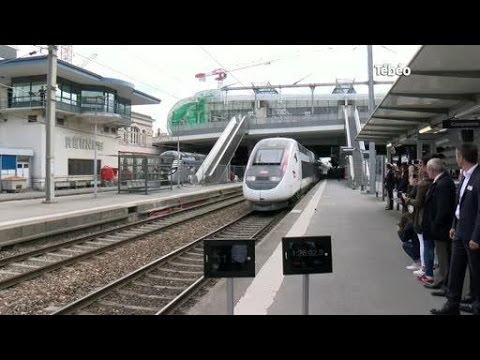 SNCF : Un TVG inaugure la ligne Paris - Rennes(Bretagne)