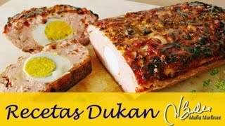 Pastel De Pollo Pavo De Violeta Dieta Dukan (ataque) / Dukan Diet Turkey Chicken Meatloaf