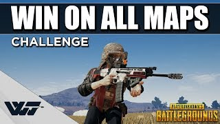WIN ON ALL MAPS CHALLENGE - Stream challenge, Can I do it? - PUBG
