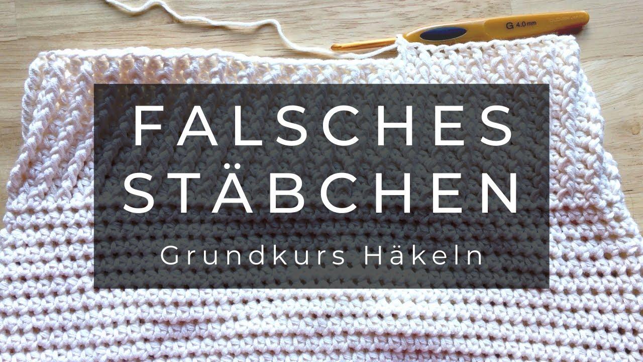 Falsches Stäbchen - Häkeln Grundkurs - YouTube
