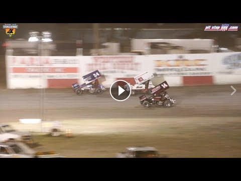 Sprint Car Challenge Tour Highlights @ Tulare (4/21/17)