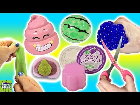 Cutting OPEN Squishy Toys! SLIME Mesh Ball Pink Emoji Crazy Crunchy Squishy!? Doctor Squish