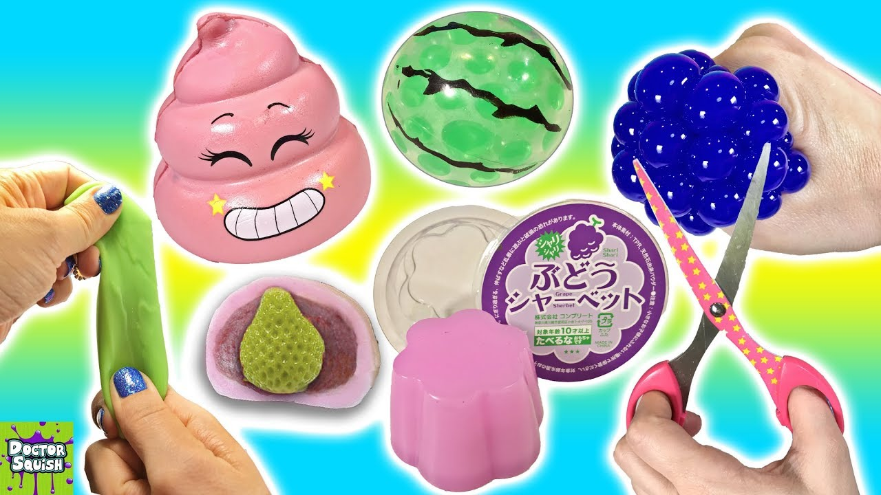Squishy Toys Cutting : Cutting Open Squishy Toys! Slime Mesh Ball And A Crazy Crunchy Squishy!? Doctor Squish - YouTube