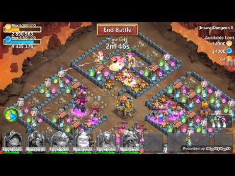 Beating Insane Dungeon 3-6! Castle Clash
