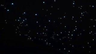 """потолок """"Звездное небо"""" с использованием оптоволокна"""