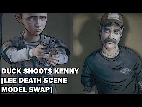 Duck Shoots Kenny [Lee Death Scene Mod] |